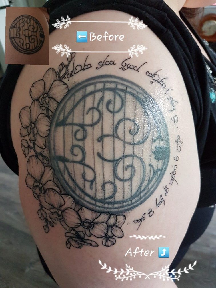 May 2018 My Hobbit Door Tattoo Before And After Thanks To