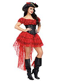 The red black and gold dress of this womens pirate costume features a lace-up  sc 1 st  Pinterest : pirate costume pinterest  - Germanpascual.Com