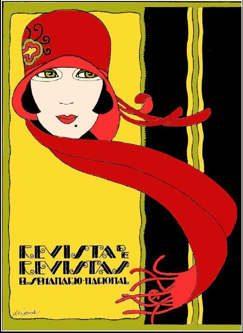 Revista de Revistas (colored) cabral 1920s