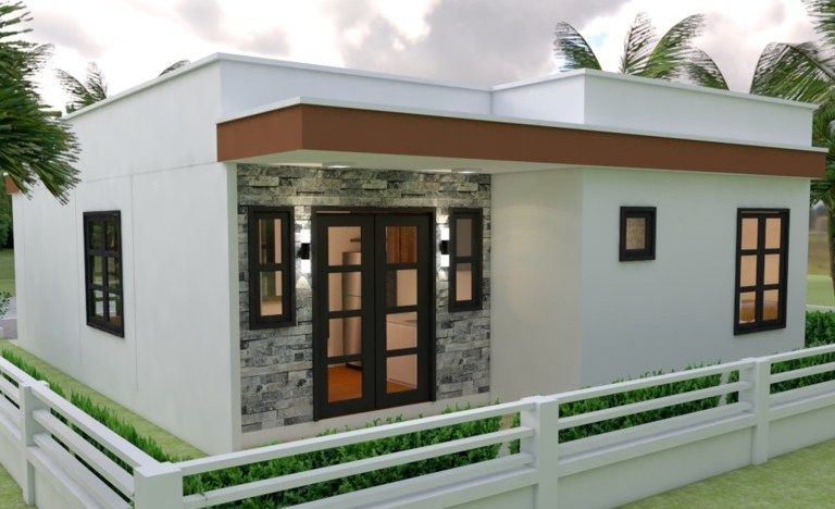 Awesome Three Bedroom Bungalow With Roof Deck Cool House Concepts Small Villa Villa Design Beautiful House Plans