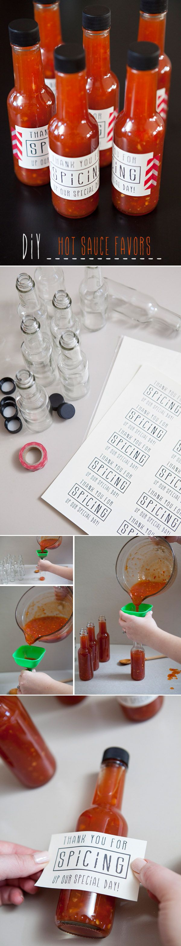Top 5 DIY Wedding Favors Your Guests Will Love | Hot sauce wedding ...