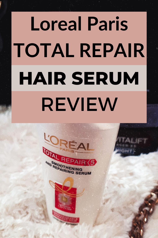 L Oreal Paris Repair Serum Hair Product Review Loreal Paris Loreal Hair Serum