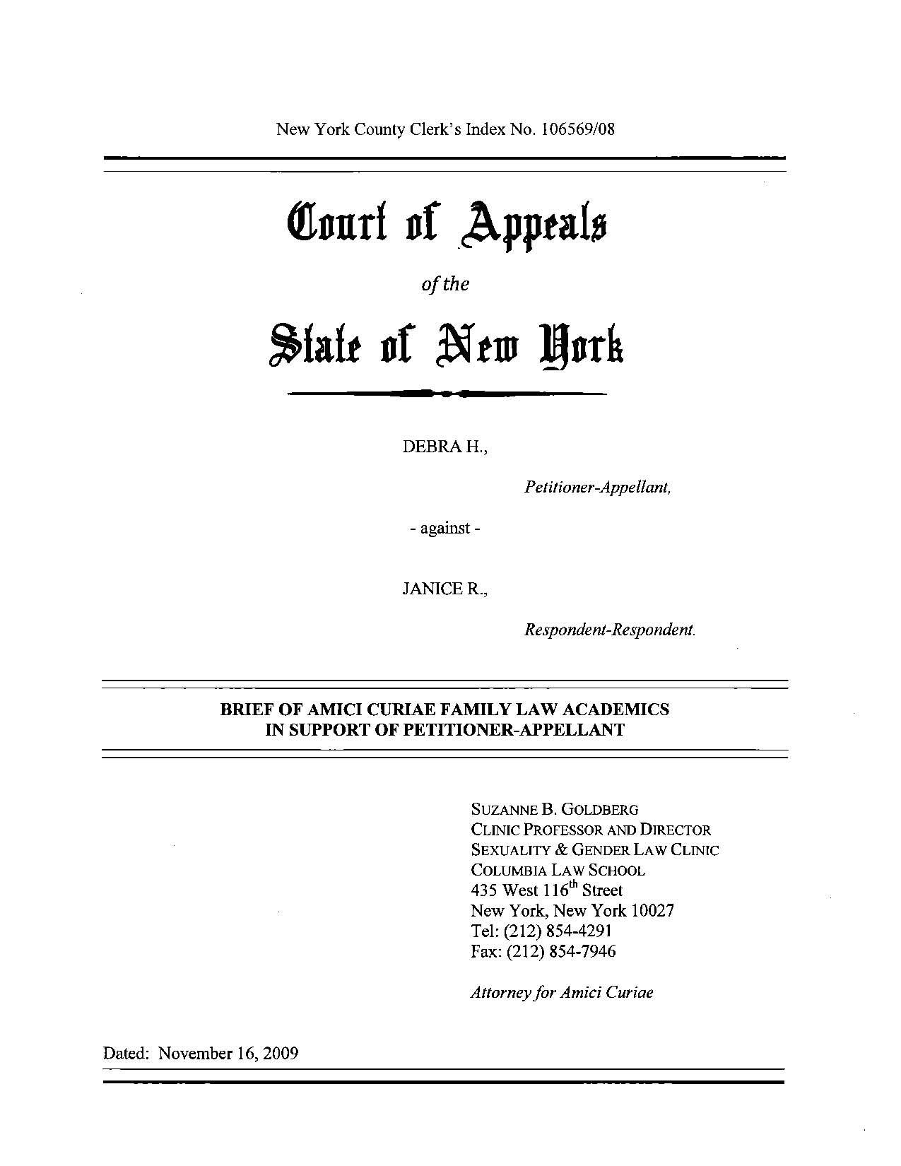 Brief Formal Legal Document Written Up By An Attorney For The
