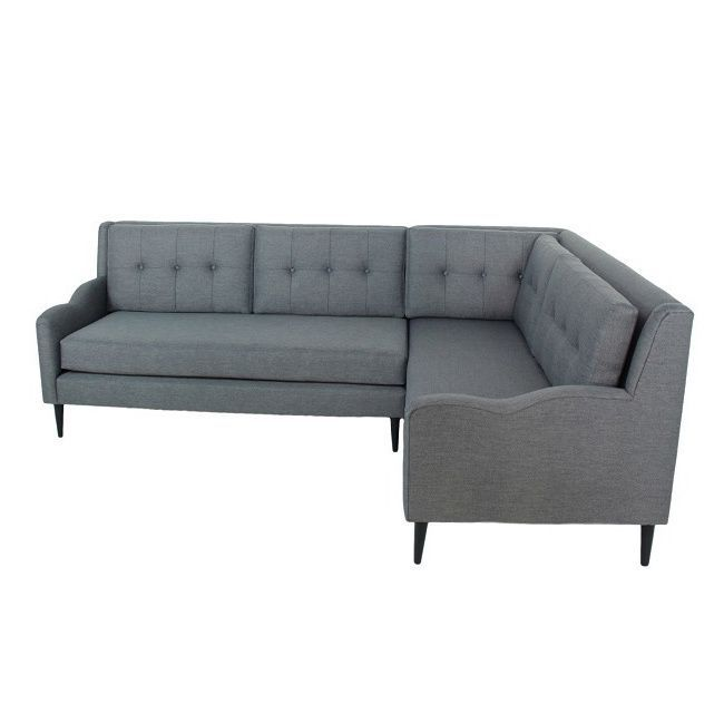 Inncdesign Genova Grey Mid Century Sectional Sofa Ping The Best Prices On