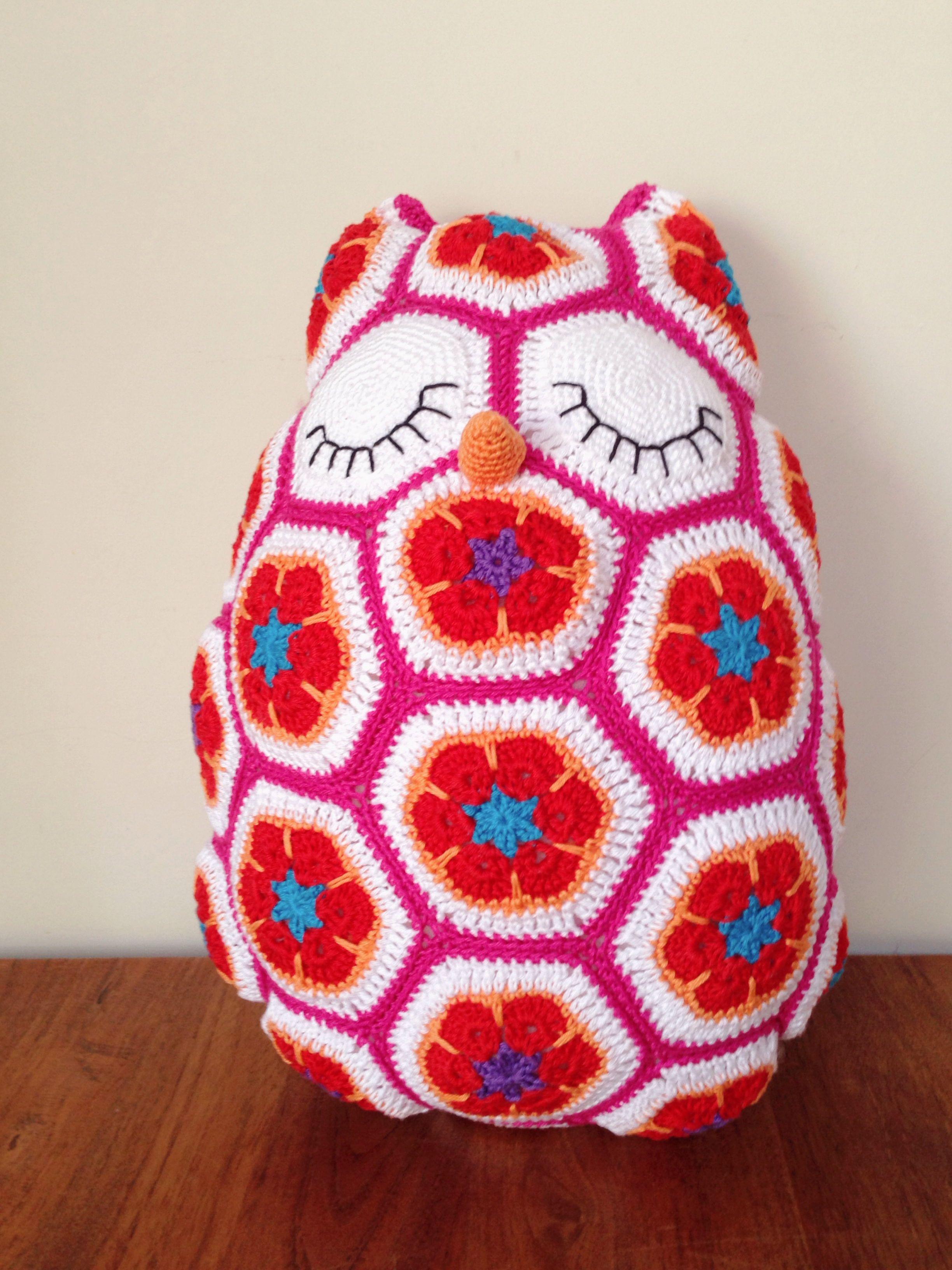 Maggie the owl (crochet - African flower) | Maggie de uil (gehaakt ...
