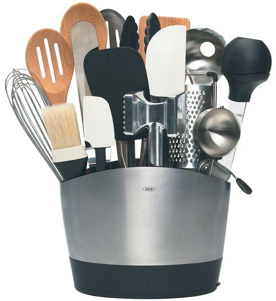 Superb OXO Stainless Steel Utensil Holder In Kitchen Utensil Holders   #kitchen  #food #foodlover