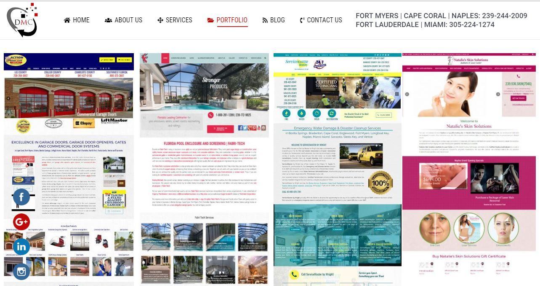 Check Out Our Portfolio Dmc Portfolio Web Design Portfolio Web Design