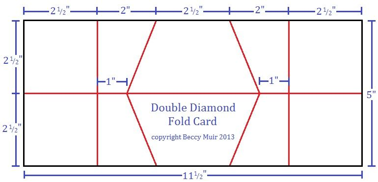 The Double Diamond Fold Card Is A Little Tricky Because Of The Way - Folded place cards template