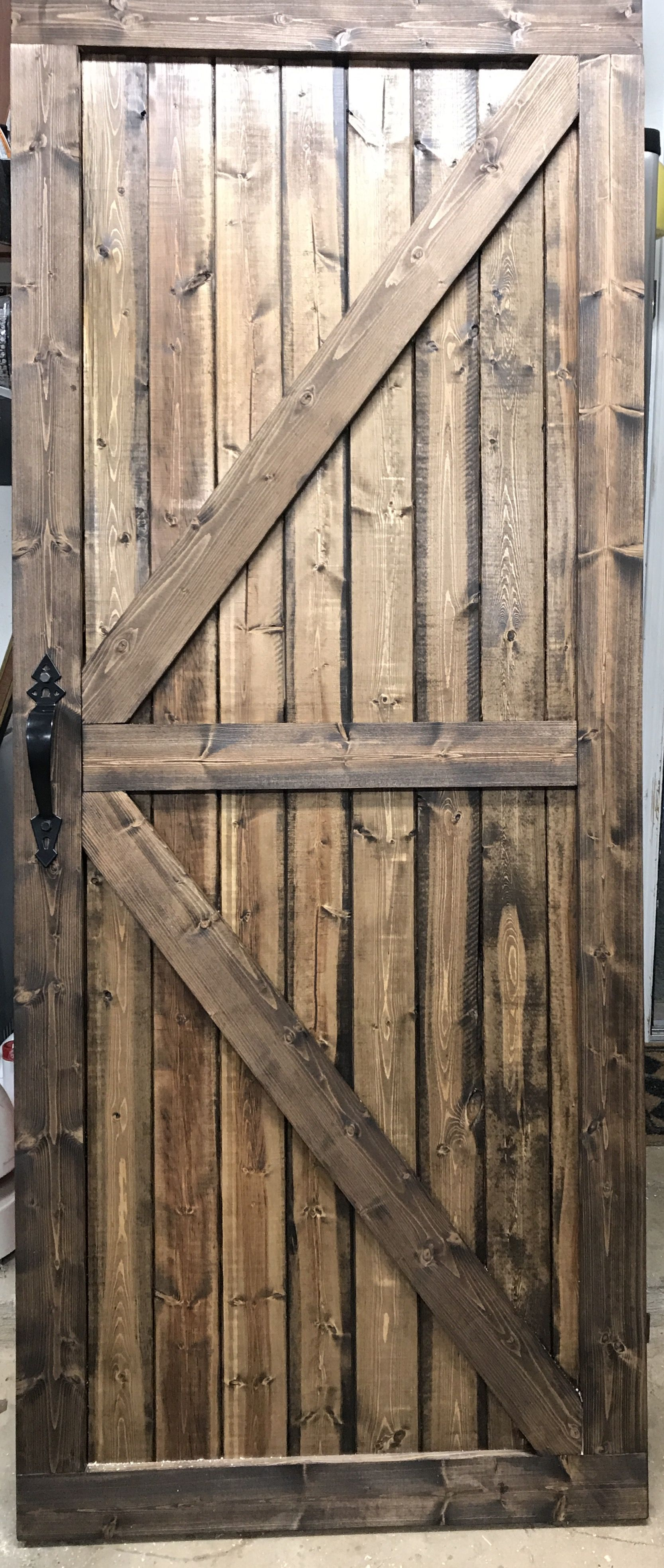 Custom 81 X 33 Barn Door Stained With Minwax Espresso Barn Door Lake House Stain Colors