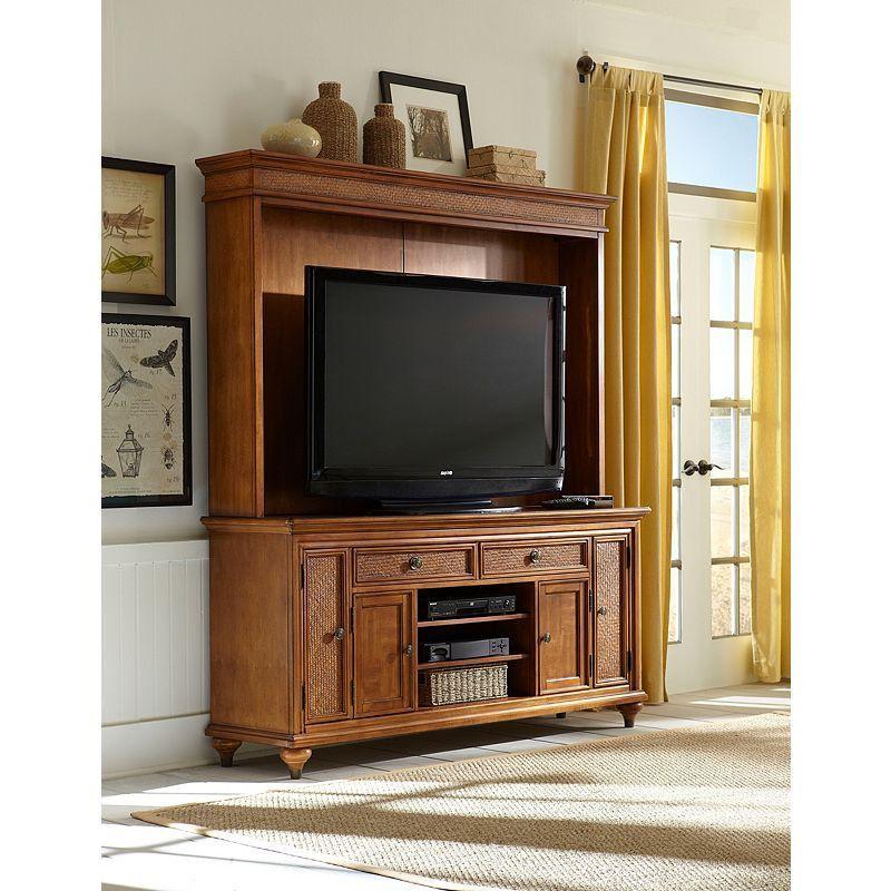 Good Samana Cove Entertainment Console W/ Hutch By Broyhill. Broyhill Furniture SamanaEntertainment CenterHutchCoveConsoles