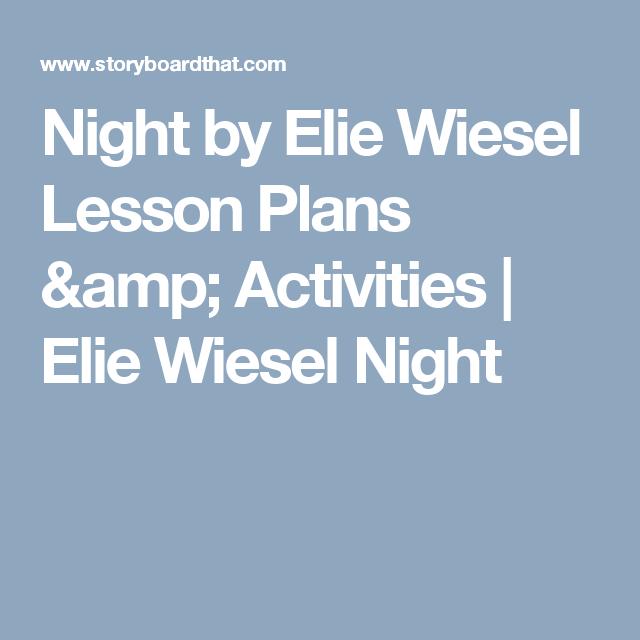 night elie wiesel lesson plans