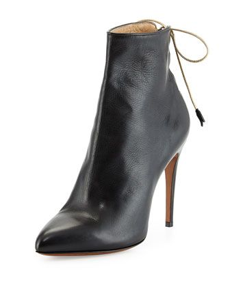7b2fea7c902 Valentina Carrano Marion Laced-Back Leather Bootie | SHOE WORLD ...