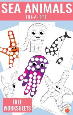 Free Sea Animals Do a Dot Printables - Easy Peasy Learners