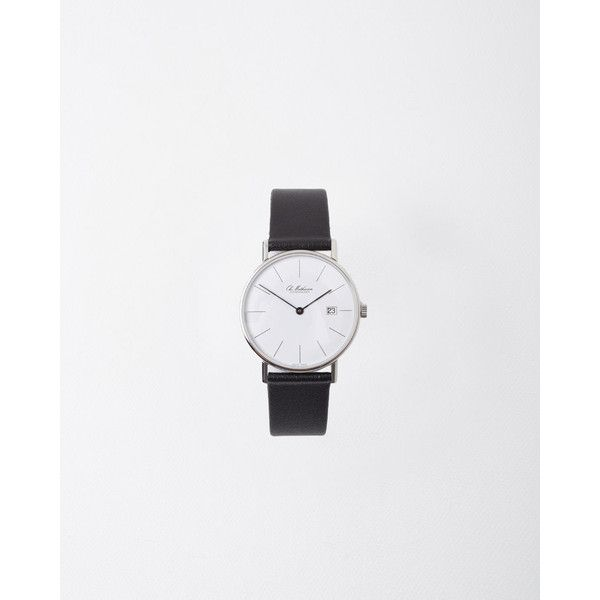 From Danish watchmakers, Ole Mathiesen, whose contemporary timepieces are elegantly understated; an ultra thin, quartz movement watch with date & 12-hour line …