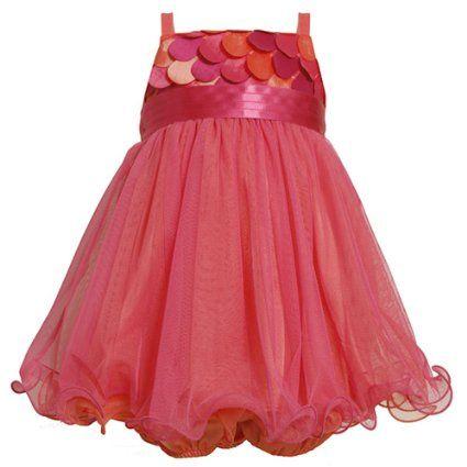 Amazon.com: Size-3/6M BNJ-4336B 2-Piece FUCHSIA-PINK SCALLOP DIE CUT MESH OVERLAY Special Occasion Wedding Flower Girl Party Dress,B04336 Bonnie Jean Baby/NEWBORN: Clothing