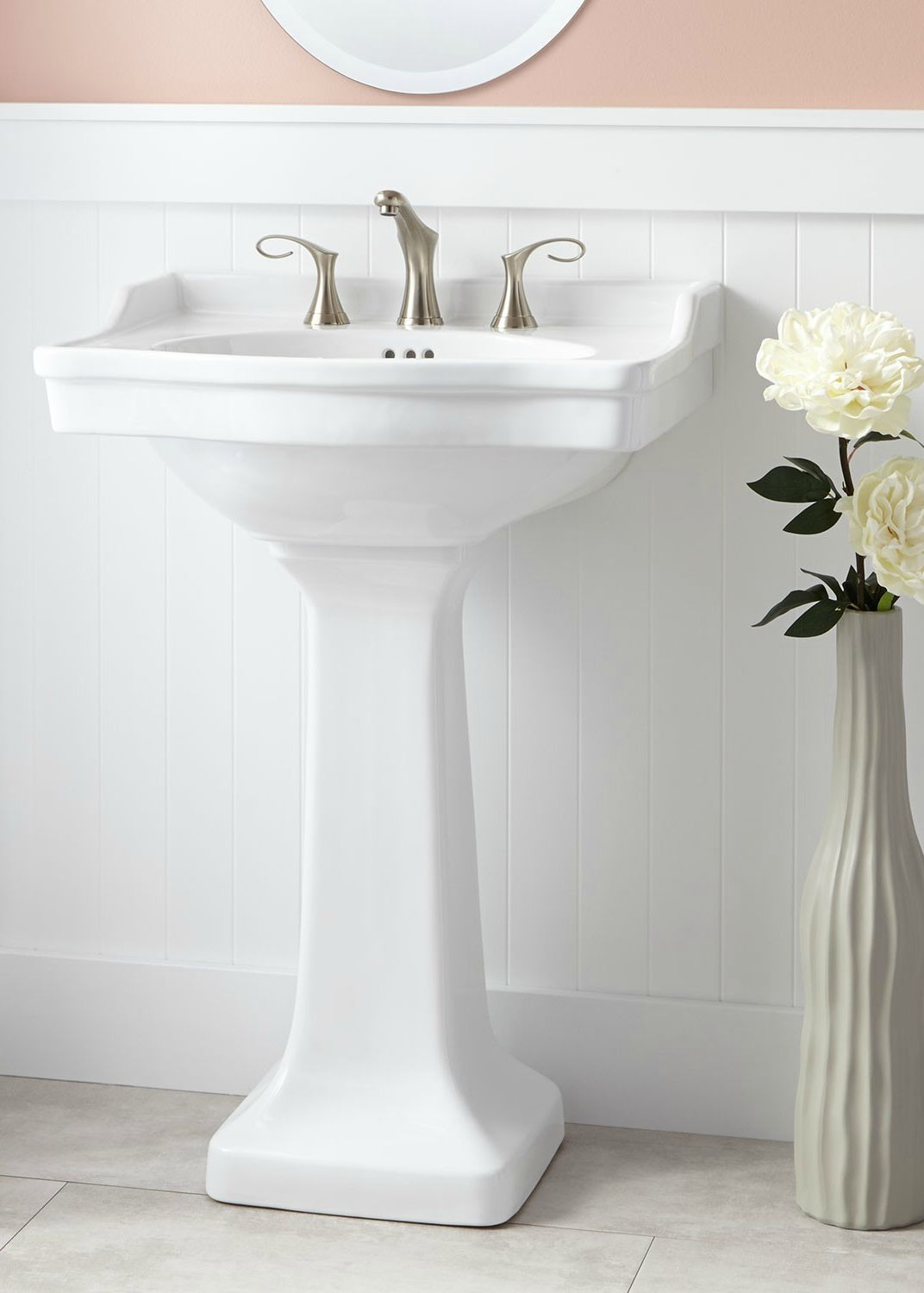 This Beautiful Pedestal Sink Will Complete Your Renovated