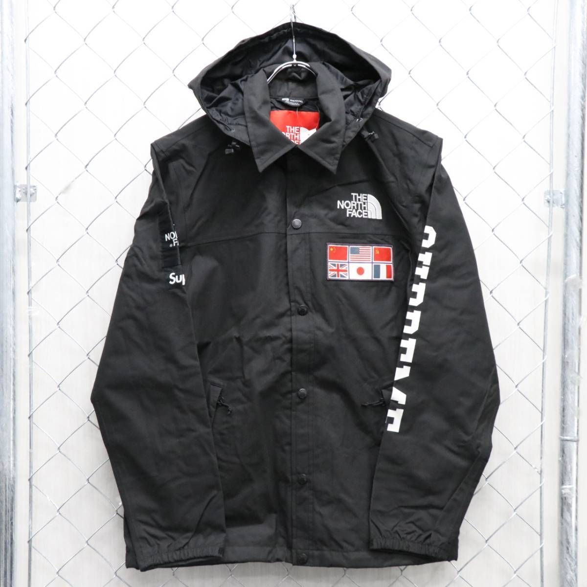 The North Face X Supreme Box Logo Windbreaker Black Expedition Coaches Jacket Jackets Black North Face Black Leather