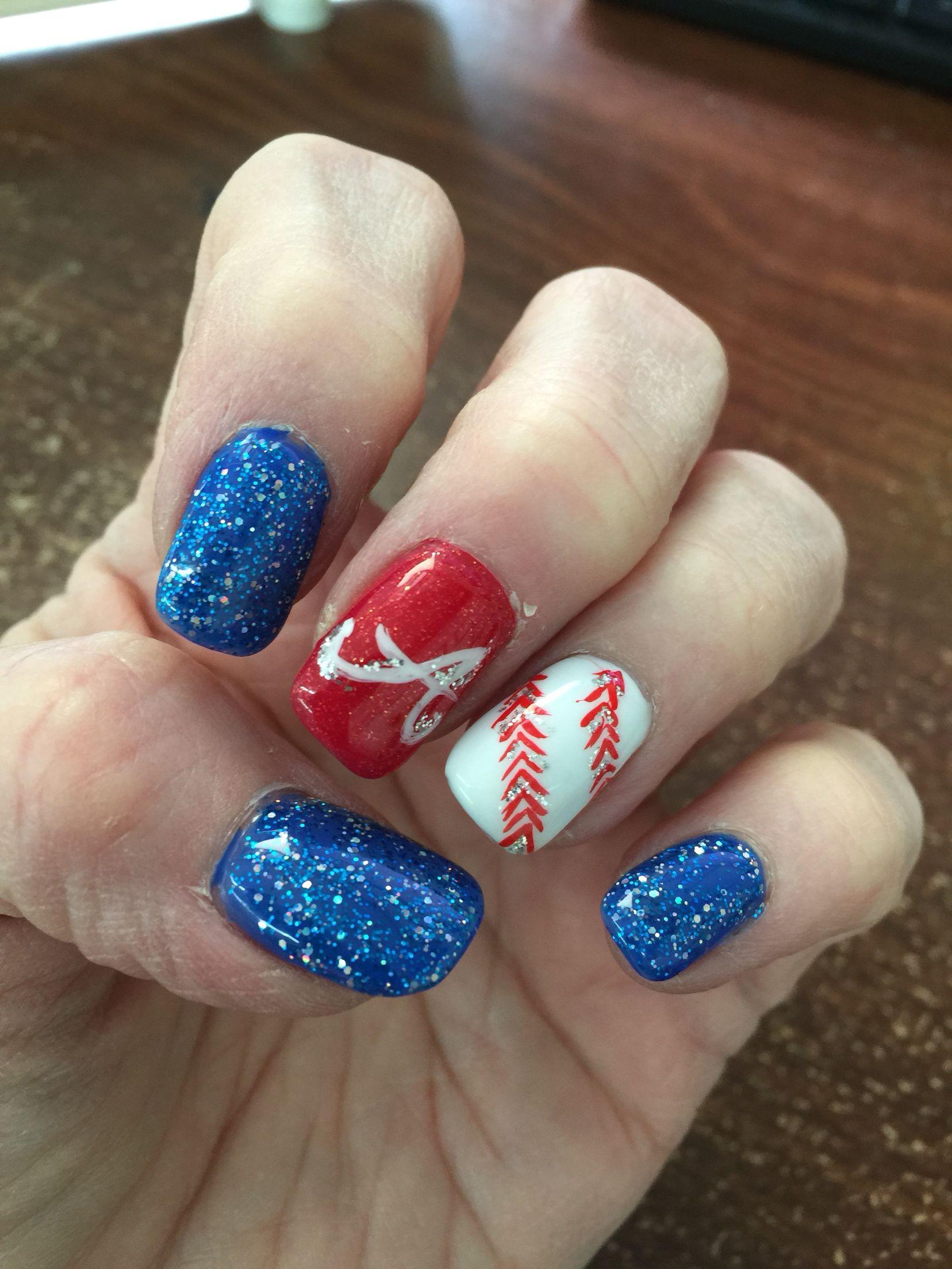 atlanta braves nails nail perfect