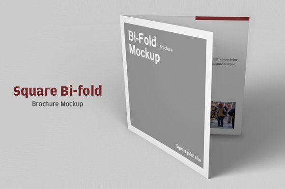 Square Bi Fold Brochure Mockup  Free Bi Fold Brochure Template Word