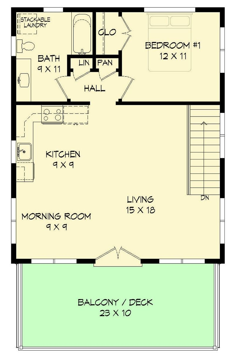 Modern carriage house plan with sun de 68461vr 2nd floor laundry 2nd floor master suite cad available carriage modern pdf vacation architectural