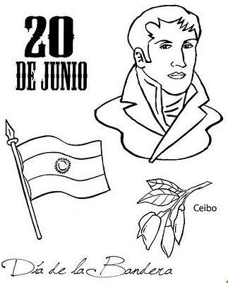 Fotos y dibujos para colorear día de la bandera argentina