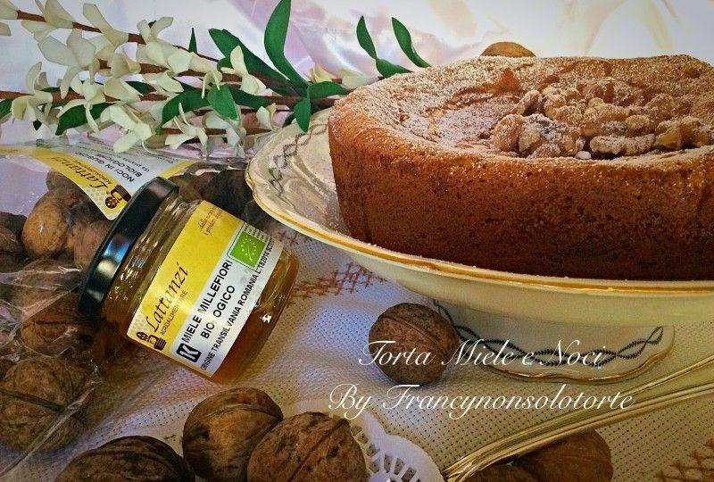 Torta Noci e Miele @ricettebloggerriunite