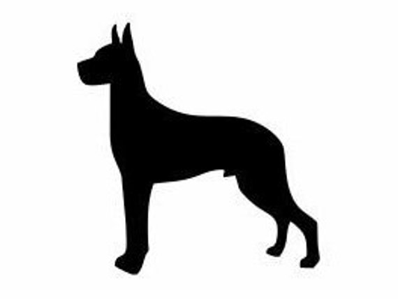 Great Dane Silhouette Decal Great Dane Lovers Great Dane Gifts