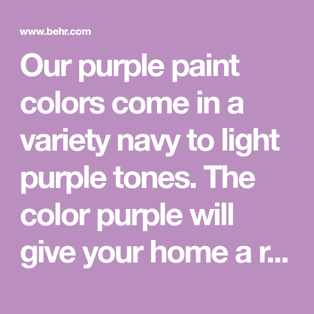 our purple paint colors come in a variety navy to light on most popular interior paint colors for 2021 id=88833