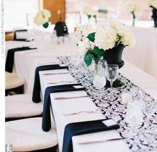 The Black u0026 White Wedding Part Three-Decor u0026 Favors & The Black u0026 White Wedding: Part Three-Decor u0026 Favors | Table setting ...