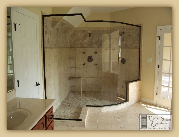 Luxurious Custom All Glass Shower Enclosure Manufactured By Coastal ...