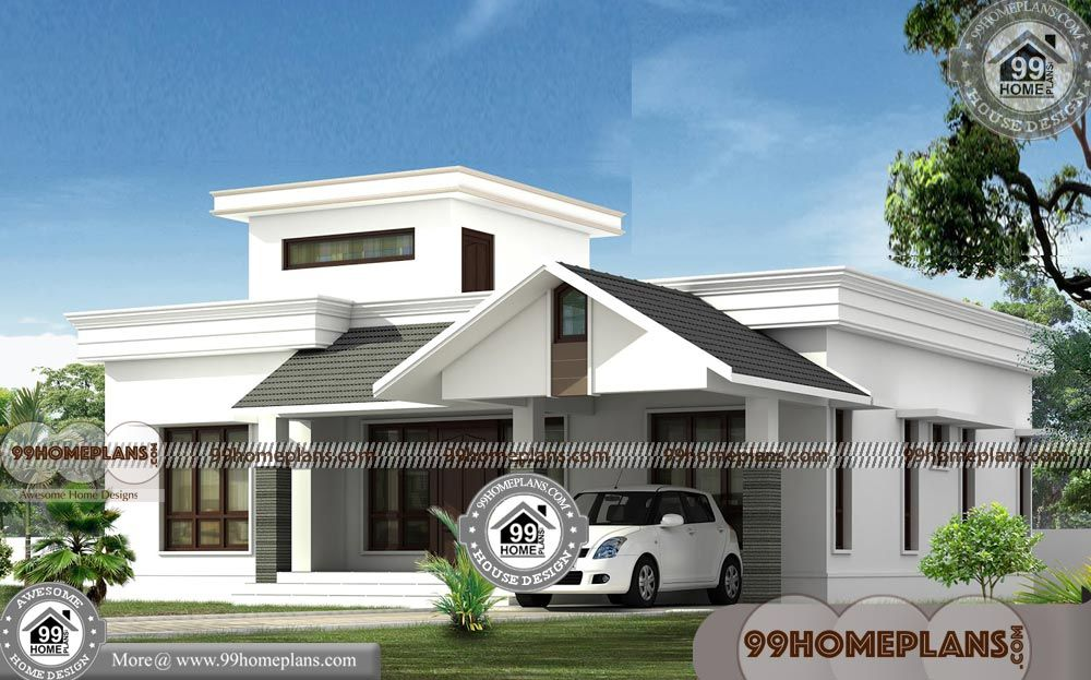 Single Story Modern House Designs With Exterior Interior Design Pictures Low Cost Marve Kerala House Design Single Floor House Design House Design Pictures