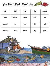 jan brett dolch word list main love her website with her free classroom downloads