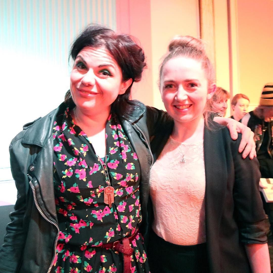 Me and the amazing women who everyday inspired me @caitlinmoran
