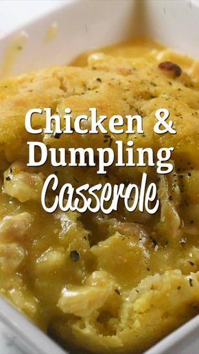 Chicken & Dumpling Casserole - Plain Chicken