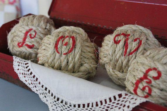 Decorative Rope Balls Rustic Wedding Decor Nautical Rope Ballshighplainsknotwork