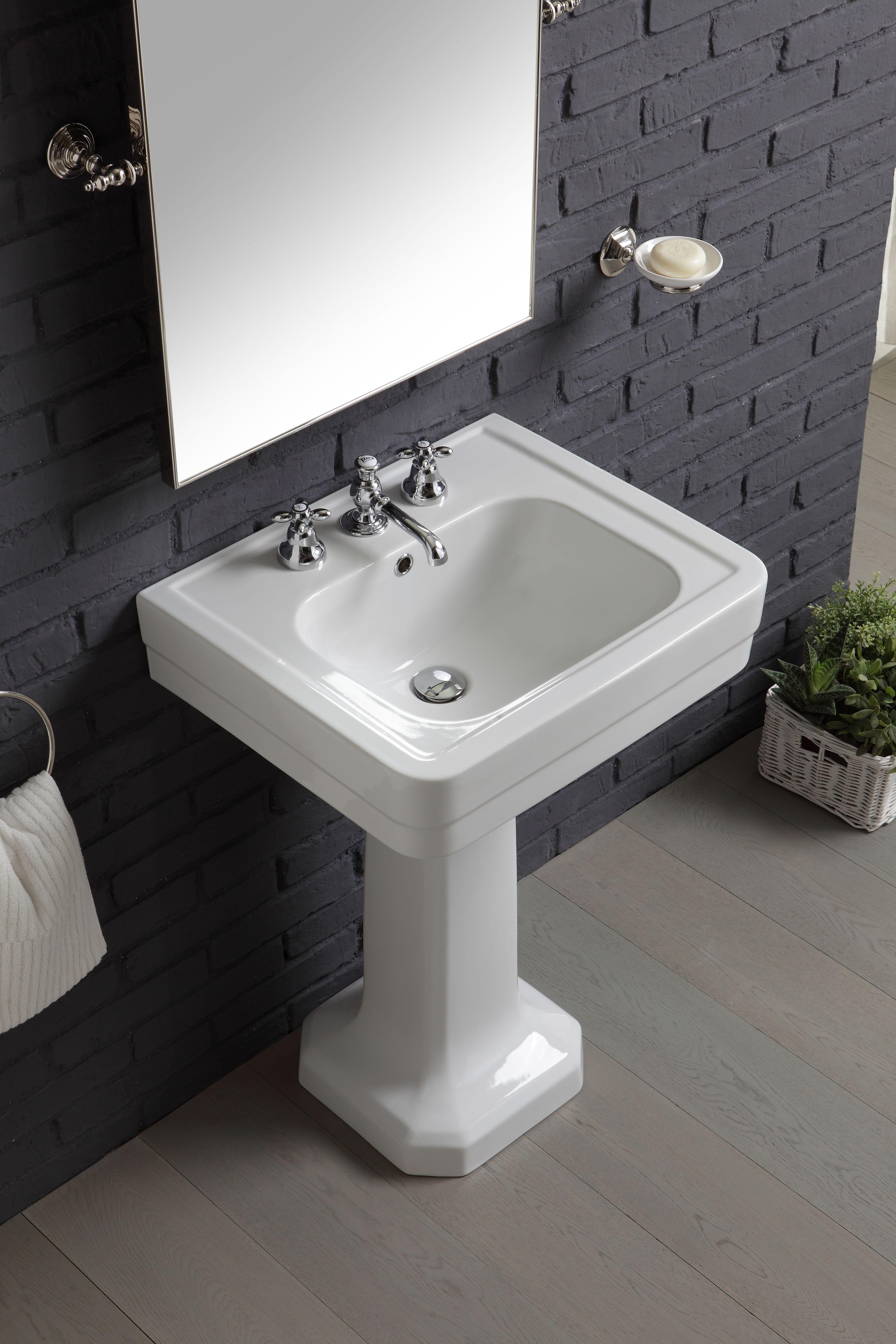 lavabo 60 cm sà rie provence 900 sur colonne cà ramique by bleu