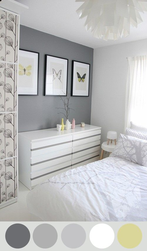 Grises para un dormitorio dormitorio con una pared - Como pinto mi habitacion ...