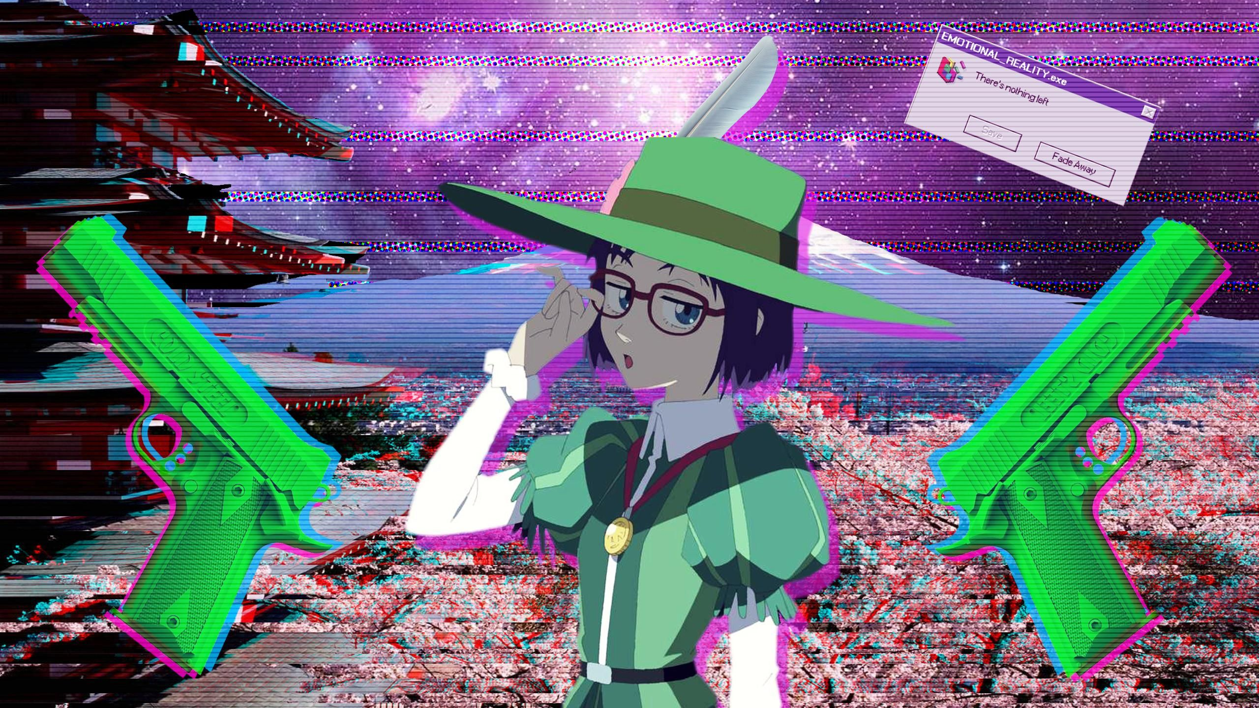 Wallpaper Anime Glitch Hd Glitch Art Anime Kesho Wazo Wallpaper Anime Girls Glitch Art Mlg 1920x1080 Hd Anime Wallpapers Anime Wallpaper Vaporwave Wallpaper