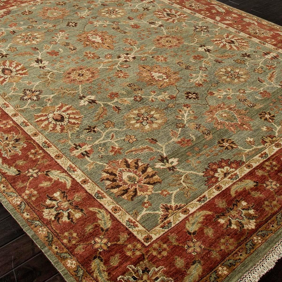 Handknot Antique Reproduction Traditional Wool Rug: 5 Colors