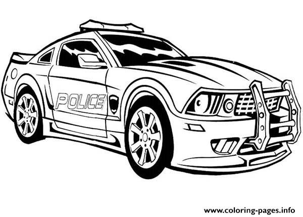 Free Download Dodge Charger Police Car Hot Coloring Pages Printable