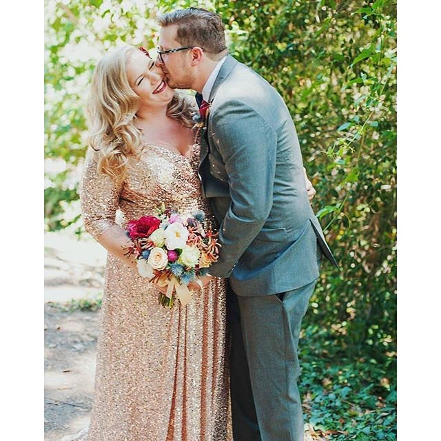 Plus Size Wedding Dress Gold Sequin Wedding Dress Plus Size