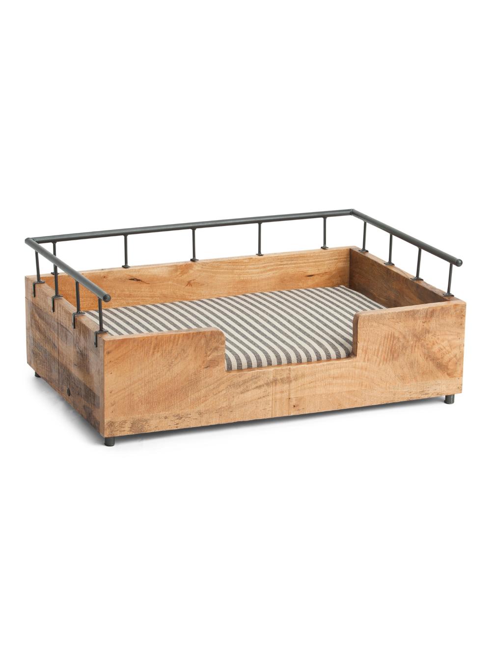 Made In India Medium Wooden Pet Bed Pet T.J.Maxx