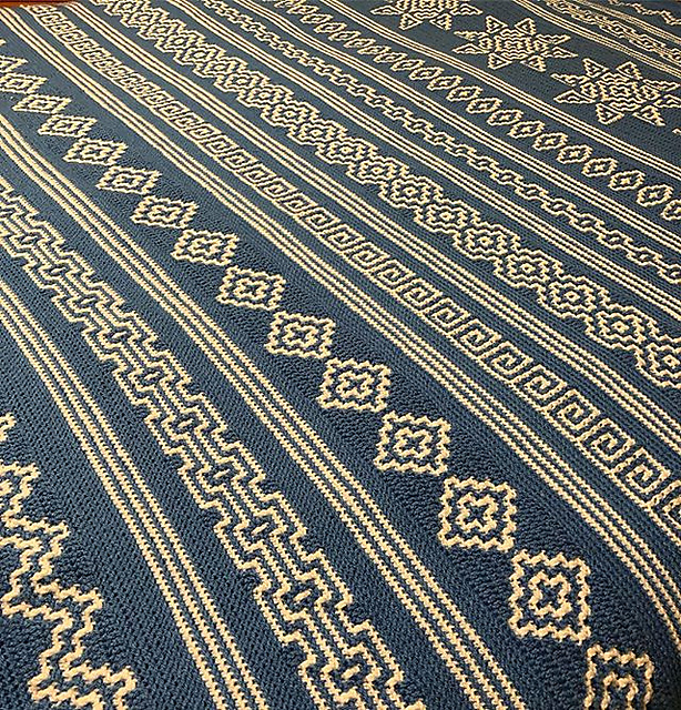 Indiana Afghan pattern by Tinna Thórudóttir Thorvaldsdóttir