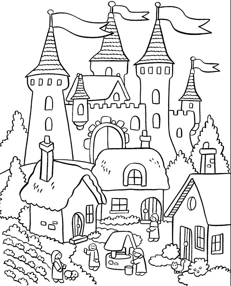 Delivered Castle Coloring Pages