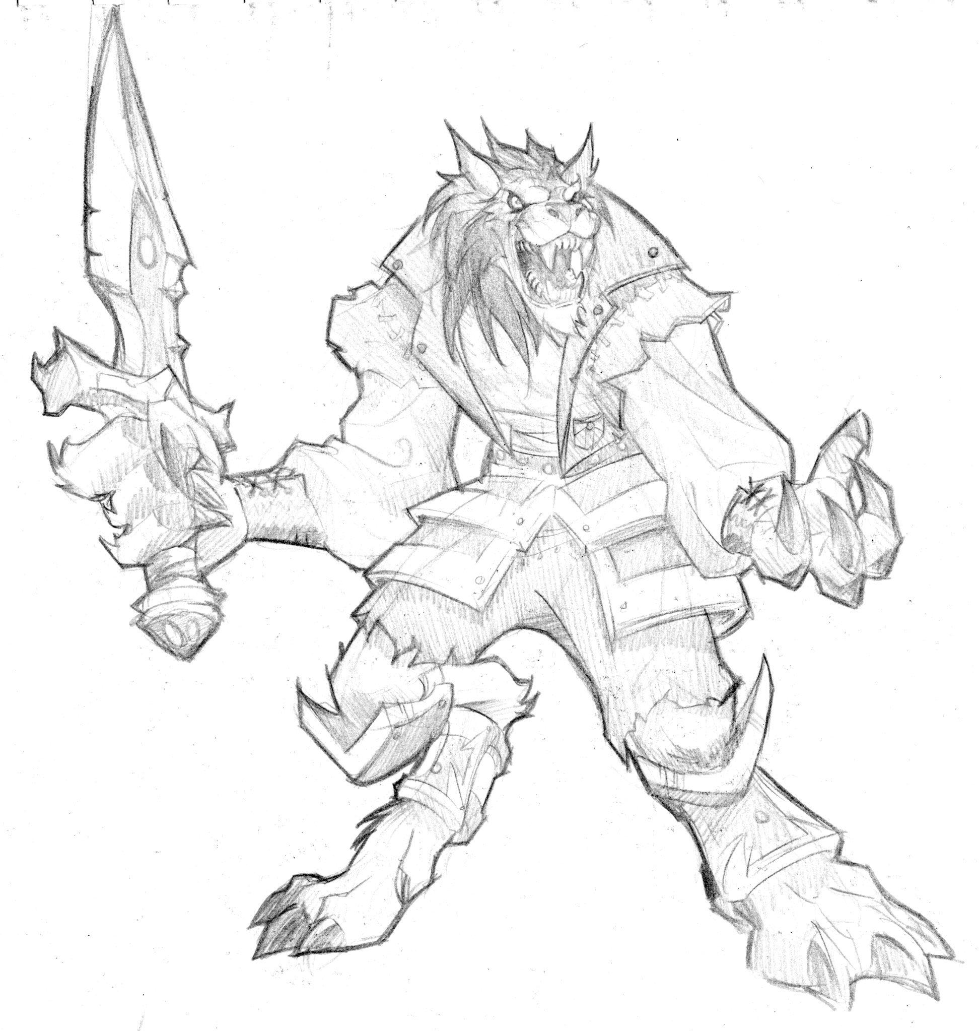 Coloriages à Imprimer Warcraft Jeux Vidéos Coloriage