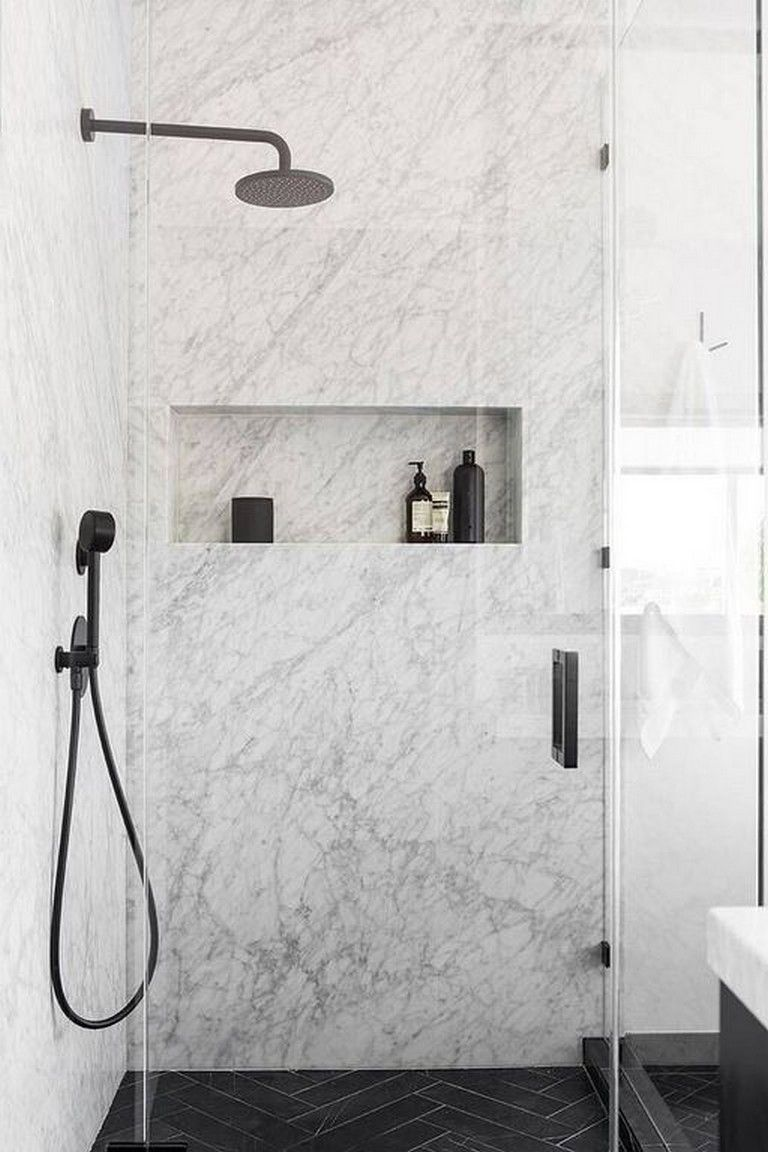Sometimes The Best Bathroom Tile Ideas Are Not About Sticking To A Certain Set Of Rules Minimalist Bathroom Design Bathroom Tile Designs Marble Tile Bathroom