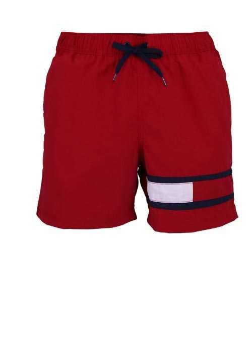 Tommy Hilfiger Badeshorts Medium Drawstring Logodruck Rot Accesorios Deportivos Deportes Accesorios