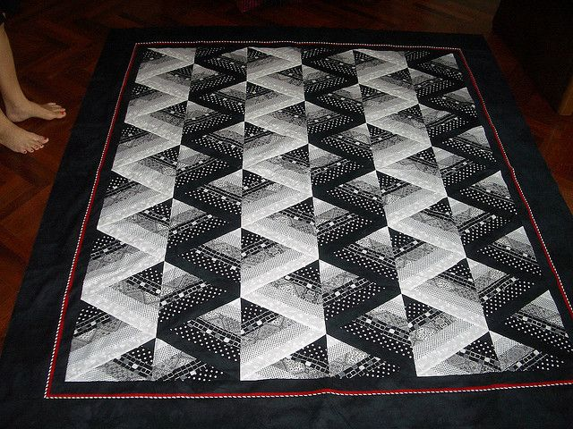 Bev S 60 Degree Triangle Quilt Chevron Quilt Pattern
