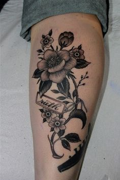 eee4e69c2867f Black flowers Gladiolus tattoo and Tattoos and body art on Pinterest ...