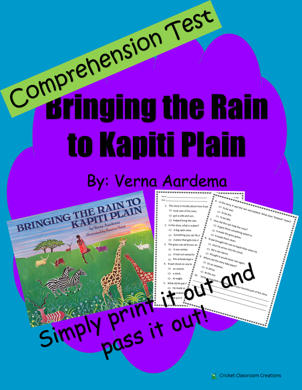 Comprehension Test: Bringing the Rain to Kapiti Plain - First or ...